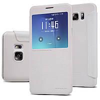 Кожаный чехол Nillkin Sparkle для Samsung Galaxy Note 5 N920 белый, фото 1