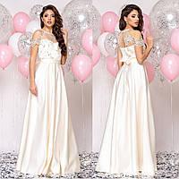 """Шикарне вечірнє, весільна сукня з атласу """"Милагрес"""", фото 1"""
