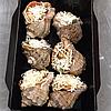 Рапан фаршированный в ракушке (ризотто из черноморских морепродуктов и грибов), 6 штук, фото 4