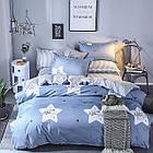 Комплект постельного белья Хлопковый Молодежный 075 M&M 5880 Синий, Белый, фото 2