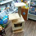 Когтеточка с домиком. Для кошек, 46х36х80 см, фото 3