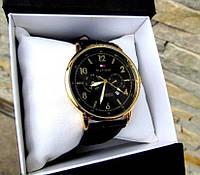 Брендовые часы мужские кварцевые Для делового человека Строгий дизайн Два цвета серебро золото Код: КГА1055