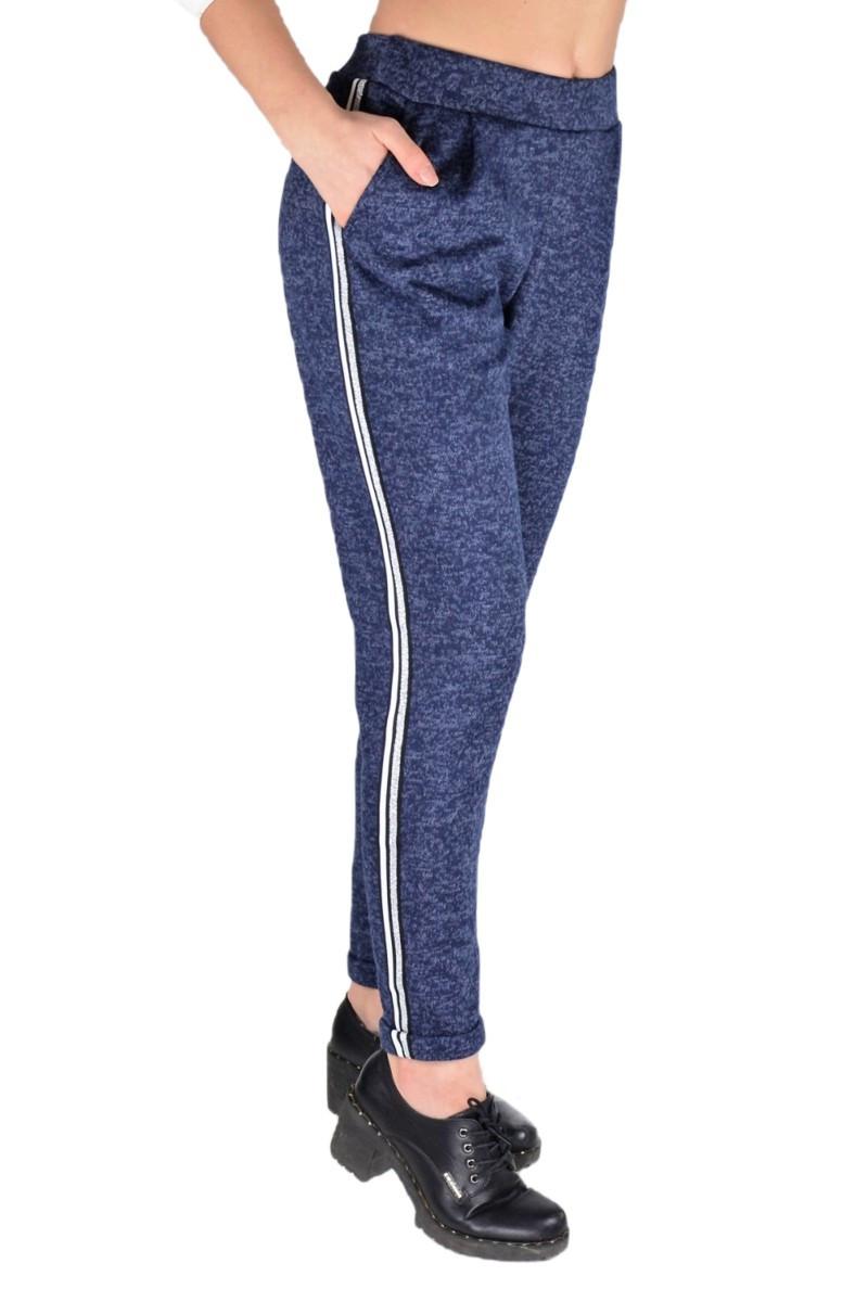 Женские трикотажные брюки синий