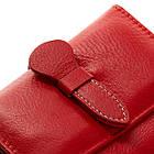 Женский кожаный кошелек Dr.Bond (10x12.5x2.5 см) красный, фото 3