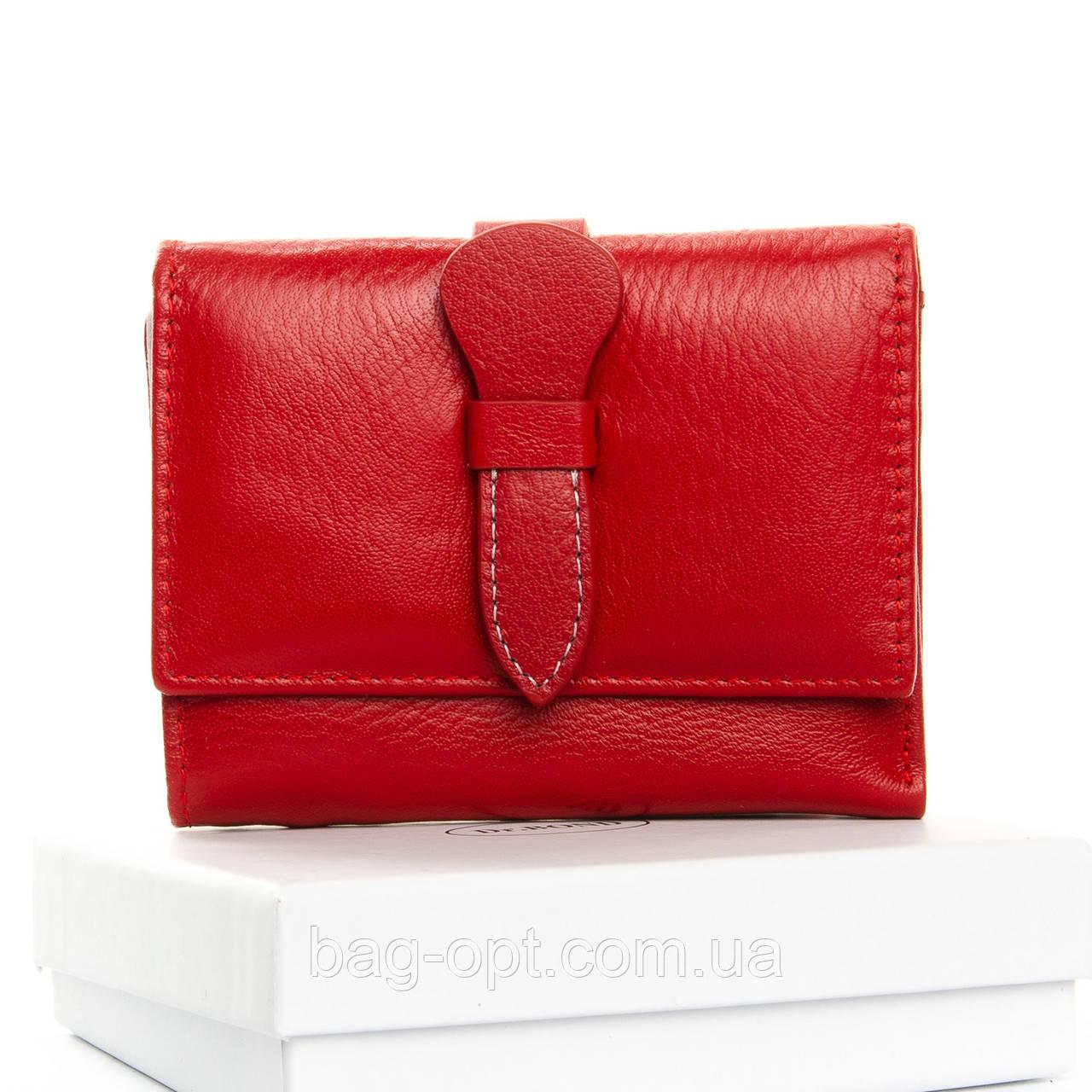 Женский кожаный кошелек Dr.Bond (10x12.5x2.5 см) красный