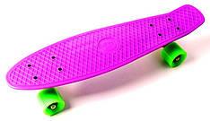 "Пенни борд, Penny Board ""Fish"" Фиолетовый цвет."