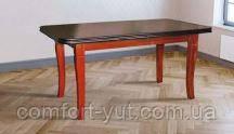 Стол Премьер орех 160(+40)*90 обеденный раскладной деревянный