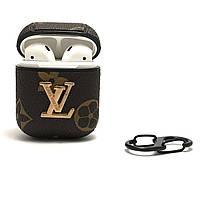 Кожаныйчехол Louis Vuitton для наушников AirPods 1,2