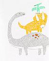 Легкий спортивный костюм для малыша carter's Динозаврик 9 мес/67-72 см, фото 2