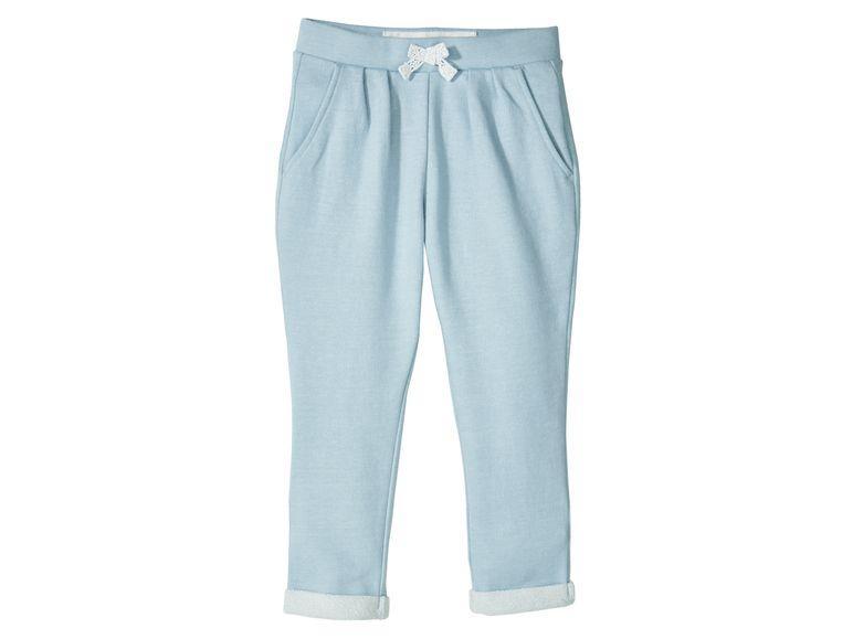 Штаны для девочек  голубые Lupilu р.92, 116см