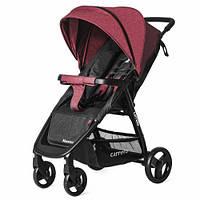 Детская коляска прогулочная CARRELLO Maestro CRL-1414/1 Strawberry Red в льне + дождевик