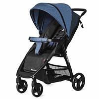 Детская коляска прогулочная CARRELLO Maestro CRL-1414/1 Water Blue в льне + дождевик