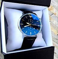 Брендовые кварцевые мужские наручные часы Великолепные два цвета Круглый корпус Хит сезона Код: КГА1056