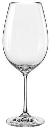 Набор бокалов для вина 550 мл 6 шт Viola Bohemia 40729/550