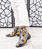 """Женские демисезонные кожаные ботинки с принтом """"под рептилию"""", фото 4"""