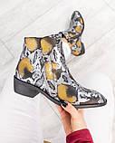 """Женские демисезонные кожаные ботинки с принтом """"под рептилию"""", фото 3"""