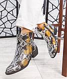 """Женские демисезонные кожаные ботинки с принтом """"под рептилию"""", фото 6"""