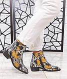 """Женские демисезонные кожаные ботинки с принтом """"под рептилию"""", фото 5"""