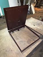 Напольный люк в погреб 70х50 см Revizio Loft утеплённый под плитку