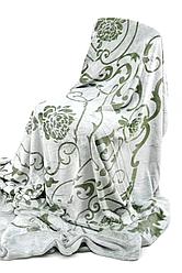 Плед микрофибра вензель 210х230 см Зеленый