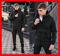 Мужской костюм Softshell хаки демисезонный Intruder. Куртка мужская ,штаны утепленные. Бафф в подарок.