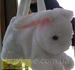 Плюшевая сумочка для подарка Зайчик 2406-30