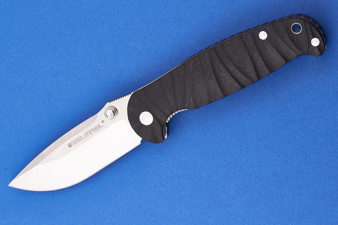 Нож складной Real Steel H6 Grooved Black (7785 )
