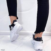 Высокие кроссовки из натуральной кожи, фото 3