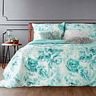 Комплект постельного белья Сатин Nova Print Aquarell M&M 2732 Зеленый, Белый, фото 2