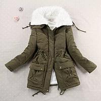 Куртка парка зимняя женская (зеленая)
