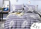 Комплект постельного белья Сатин Dalwin 145 M&M 3034 Белый, Фиолетовый, фото 2