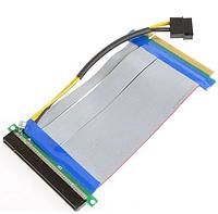 Шлейф Riser , Райзер PCI-E 16x -> 16x гибкий с питанием MOLEX ,  удлинитель переходник, фото 1