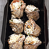 Рапан фаршированный в ракушке (с лососем, спаржей и мидиями), 6 штук, фото 3