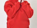 Худи красное оверсайз oversize L реглан без надписей, фото 6