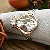 Серебряное кольцо с золотом Лира вставка белые фианиты вес 2.8 г размер 18, фото 4