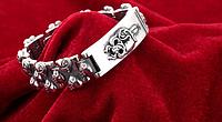 Мужской серебряный браслет Chrome Hearts Сердце Меч 118,89 гр 23 см