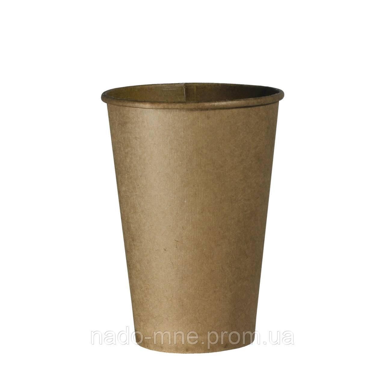 Стакан бумажный Крафт 340мл, 50шт/уп (КВ90)