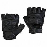 Перчатки кожаные без пальцев