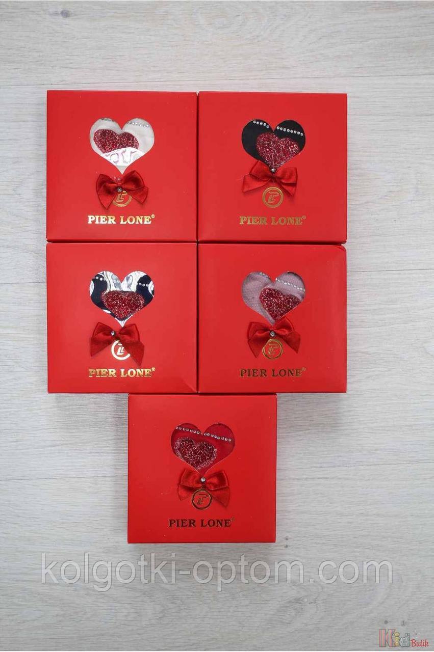 ОПТОМ Носки с сердечком в подарочной упаковке р.35-40 (25 / M / 38-40 см.)  Pier Lone 8681788314590