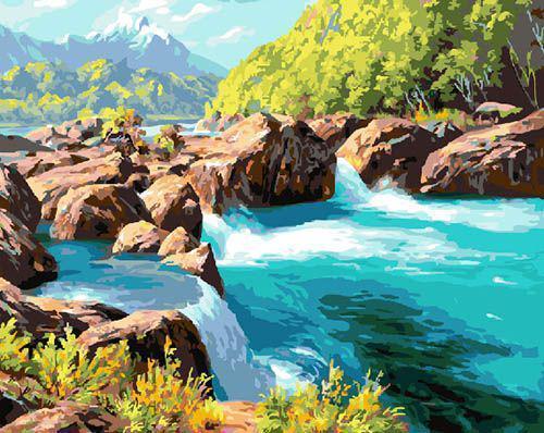 Картина по номерам Горная река 23762 40*50