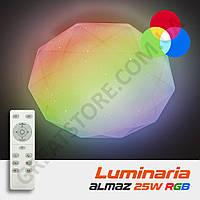Потолочный светодиодный светильник LUMINARIA ALMAZ 25W RGB R-330-SHINY-220V-IP44 с пультом ДУ