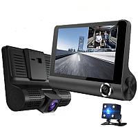 Автомобильный видеорегистратор  с 3-мя камерами full HD