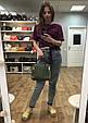 Вместительная сумка с ручкой и замками по бокам (0306) Черный, фото 9