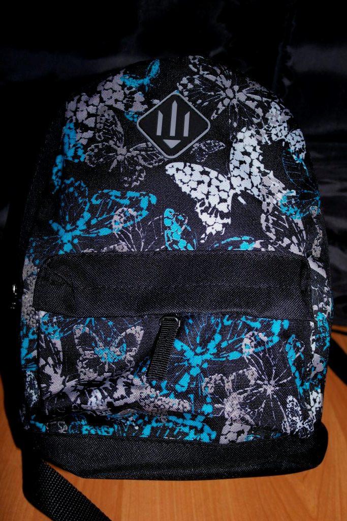 Рюкзак детский,городской объем 10 литров (голубые бабочки)