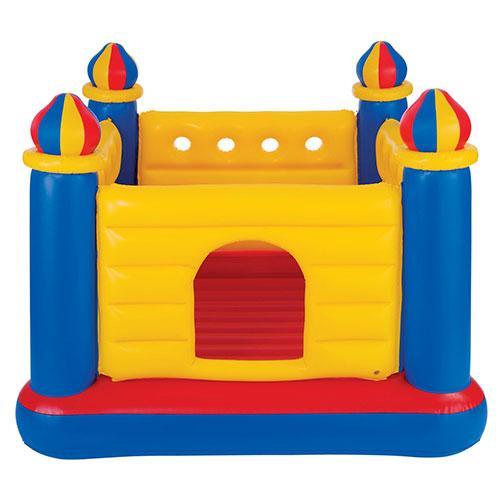 Батут надувной детский Intex 48259 (175х175х135см) Замок Желтый