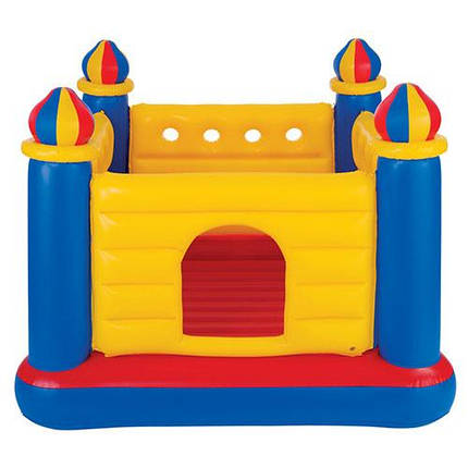 Батут надувной детский Intex 48259 (175х175х135см) Замок Желтый, фото 2