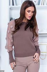 Женский свитер коричневый 62052