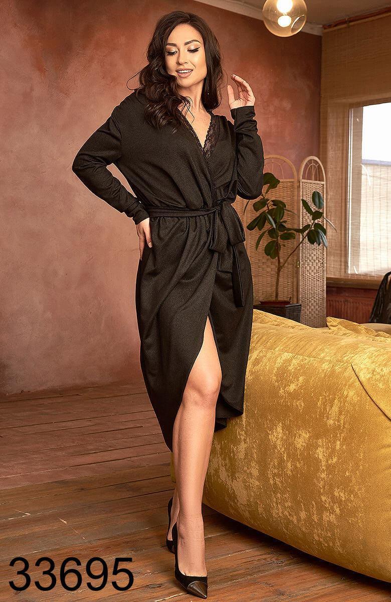 Женское модное платье миди на запах р.50-52,54-56
