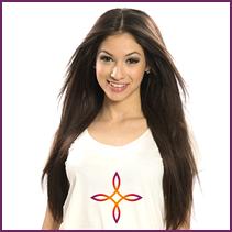 Європейське волосся на заколках 50 см 160, 140 грам