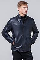Куртка осенне-весенняя качественная темно-синяя для мужчин модель Braggart Youth.